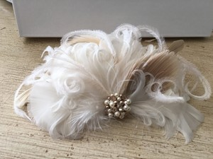 Swarovski Pearl Ostrich Feather French Fascinator