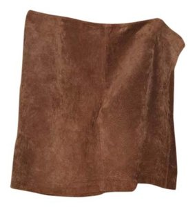 Newport News Suede Mini Skirt brown