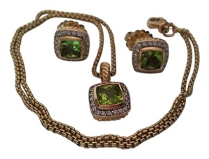 David Yurman SALE!!! David Yurman Gold, Peridot and Diamond Petite Albion Set
