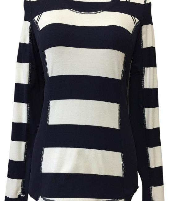 Item - Navy Blue and White Pullover Activewear Top Size 4 (S, 27)