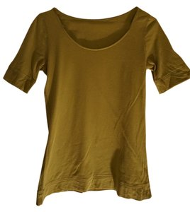Ann Taylor LOFT Half Sleeve Shirt Top green