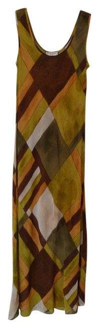Item - Olive/Brown Olive/Brown Long Casual Maxi Dress Size 6 (S)