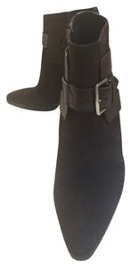 Hermès Suede Leather Brown Boots