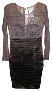 Calvin Klein Sequin Mesh Evening Sweetheart Sheer Dress