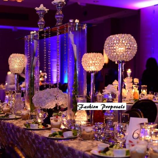 Clear Crystal and Silver Globe Candelabra Candle 27' Inch ...