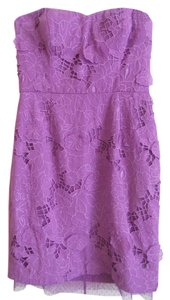 BCBGMAXAZRIA Floral Delicate Lace Sweetheart Neckline Dress