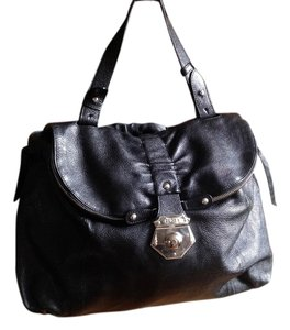 Furla Large Handbag Leather Satchel in Black