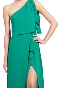 BCBGMAXAZRIA One Side Slit Sexy Classy Emerald Dress