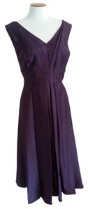 Coldwater Creek Date Night V-neck Evening Tea Length Satin Dress