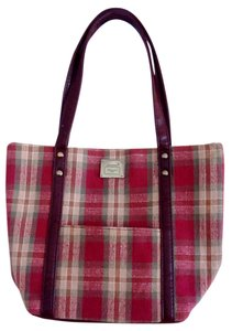 Longaberger Lightweight Satchel in plaid