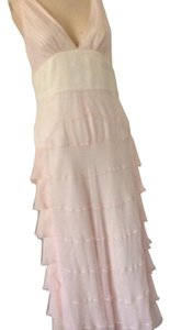 Cream/pink. Maxi Dress by BCBGMAXAZRIA