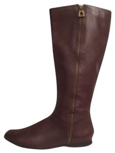Enzo Angiolini Leather Riding Brown Boots
