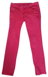Mango Mng Skinny Pants Red