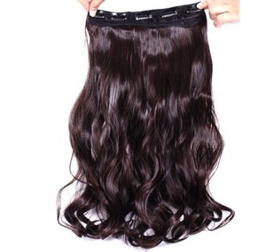 Reduced Dk Brown Wavy Full Head Hair Extension Free Shippin