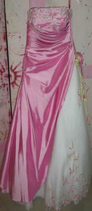 Mary's Bridal Pink/White Dress