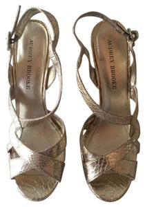 Audrey Brooke Gold Pumps