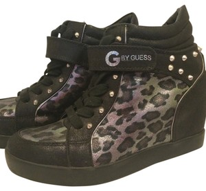 Guess Black with Leopard print Athletic