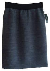 Alfani Horizontal Pleats Machine Washable Never Worn Skirt Gray