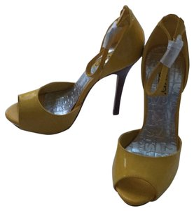 RSVP Stiletto Night Out Yellow Platforms