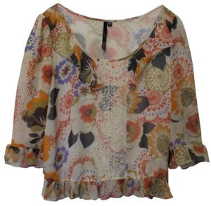Bellatrix Silky Contemporary Floral Tunic