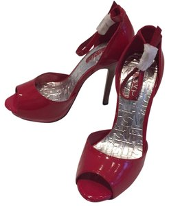 RSVP Stiletto Night Out Red Platforms