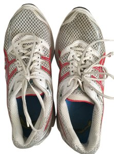 Asics Running Walking Exercise White with red Athletic