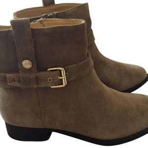 Tommy Hilfiger Buckle Ankle Taupe Boots
