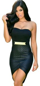 Other Quilted Bodycon Sexy Club Dress