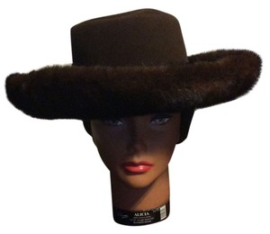 Macy's Ranch Mink Chocolate Wide Brim Hat