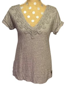 Anthropologie Meadow Rue V-neck Gray T Shirt