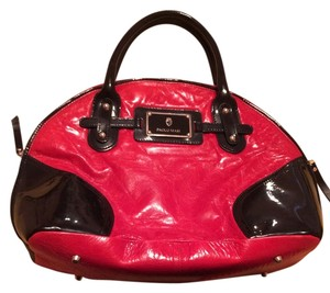 Paolo Masi Leather Italy Geniune Satchel in Red and black