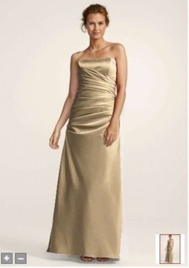 Preload https://item5.tradesy.com/images/david-s-bridal-golden-satin-strapless-rouched-ball-gown-f13974-formal-bridesmaidmob-dress-size-10-m-131049-0-0.jpg?width=440&height=440