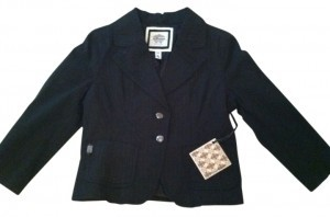 Dollhouse Black with Pinstripes Blazer