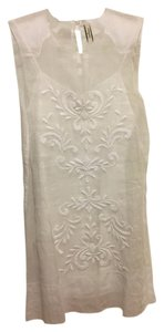 By Malene Birger short dress White Sleeveless Embroidered Cotton Slip Lining Feminine on Tradesy