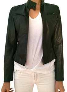 Armani Collezioni Italian Size 38 Us Size 2 dark brown Leather Jacket