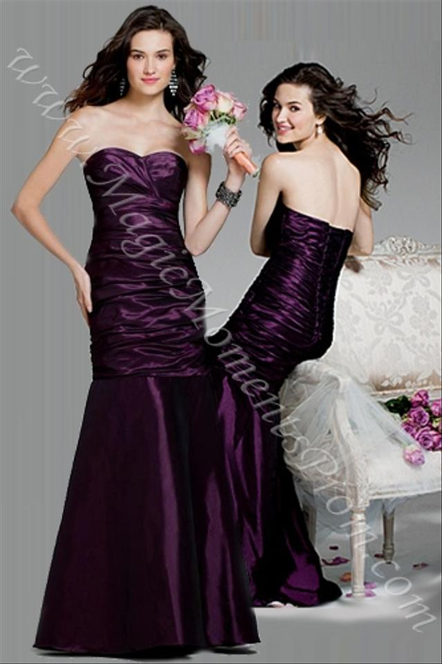 Plum Colored Bridesmaid Dresses | Alfred Angelo Plum Purple Taffeta Style 7237 Formal Bridesmaid Mob