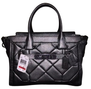 Coach Tote in GUNMETAL METALLIC
