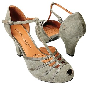 Gentle Souls Kid Leather Grey Pumps