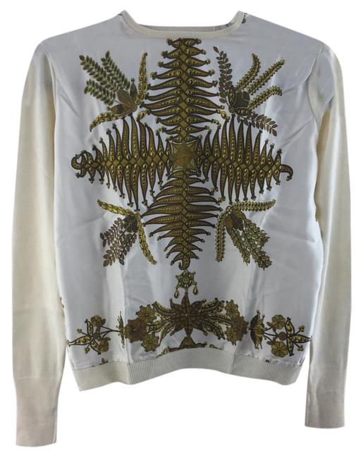 Item - Printed White and Gold Sweater