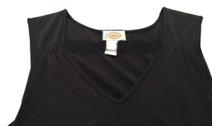 Ann Taylor Loft Top Black with Beige Design