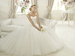 Pronovias Pronovias Planeta: Belt Bolero And Designer Wedding Dress
