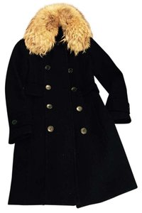 Andrew Marc Fur Collar Fur Coat