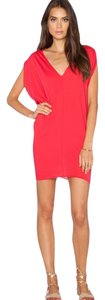 bobi short dress Red Jersey Mini Summer on Tradesy