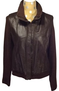 Gap Vintage Leather Brown Leather Jacket