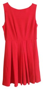 Esley short dress Cherry Red Fit & Flare A-line Sleeveless on Tradesy