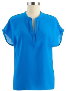 T Tahari V-neck Royal Short Sleeves Top Blue