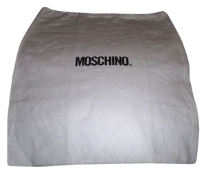 Moschino New Moschino Sleeper/ Dust Bag Protective Cover White with Black Logo Bag 14x18!!!