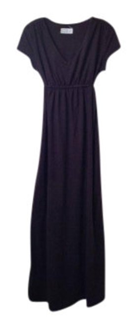 Item - Chocolate Tie Back Maternity Long Casual Maxi Dress Size 8 (M)
