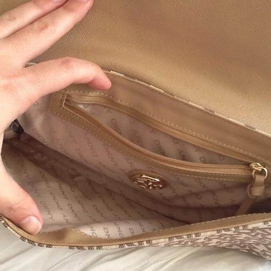 DKNY Chino Orange and Brown Clutch Image 4