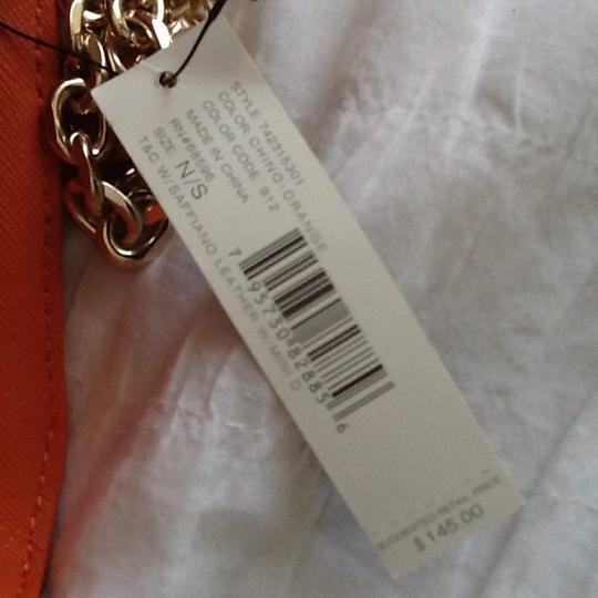 DKNY Chino Orange and Brown Clutch Image 7